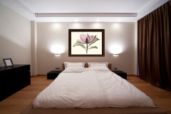 Bedroom with Magnolia Floral Xray