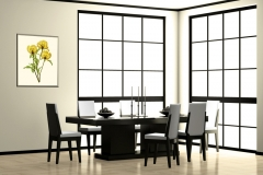 Dining Room with Peony Trio Floral Xray